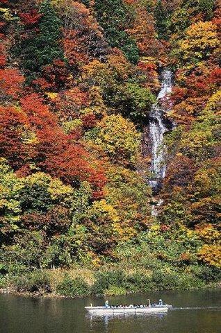 最上峡の紅葉
