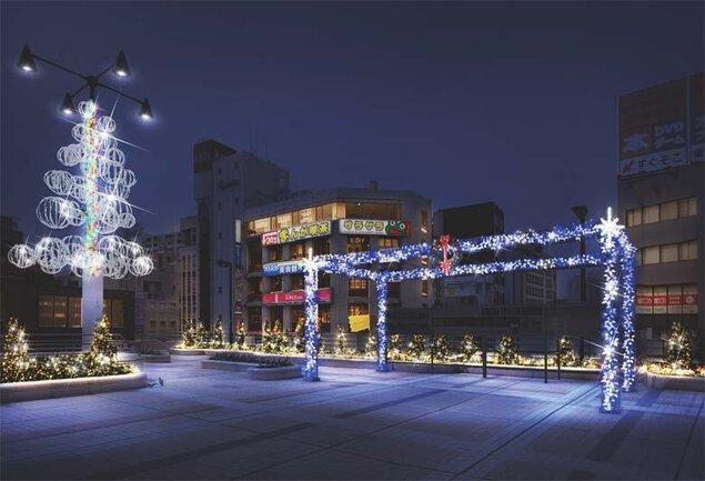 松戸駅西口デッキおよび周辺商店街