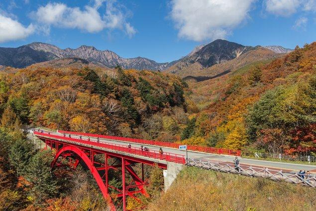 川俣渓谷・東沢大橋の紅葉