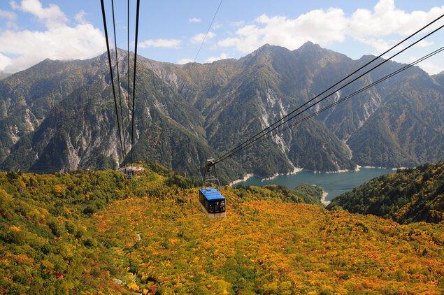 立山ロープウェイの紅葉
