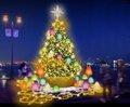 神戸ハーバーランドumie Winter Illumination Wish Lamp Tree(ウィッシュランプツリー)