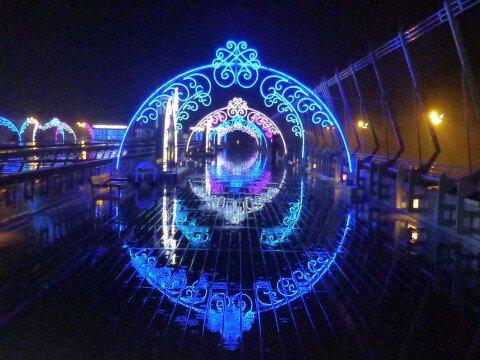 中部国際空港 セントレアのイルミネーション写真