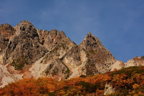 上高地(涸沢方面)の紅葉