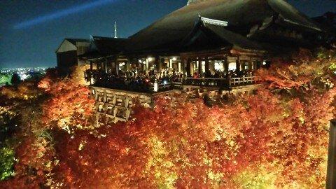 東山(清水寺)の紅葉写真