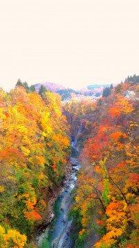 小安峡の紅葉写真