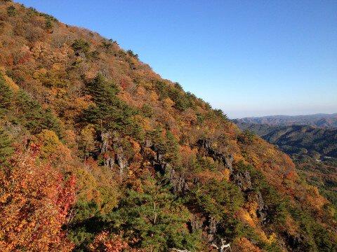 霊山県立自然公園の紅葉写真