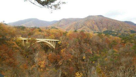 鳴子峡の紅葉写真