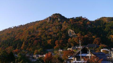 山寺の紅葉写真