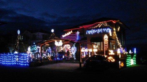 福島市松川町美郷ガーデンシティのイルミネーション写真