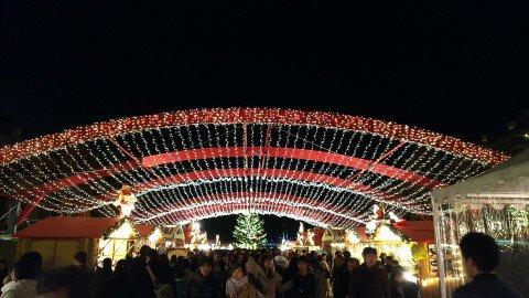 横浜赤レンガ倉庫のイルミネーション写真