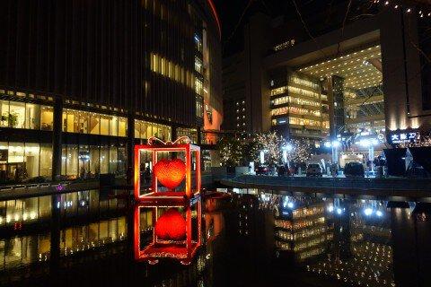 グランフロント大阪のイルミネーション写真