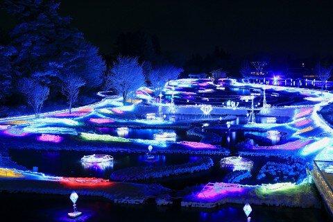 国営アルプスあづみの公園(堀金・穂高地区)のイルミネーション写真
