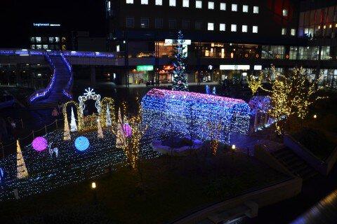 JR長岡京駅西口一帯・バンビオ広場公園の紅葉写真