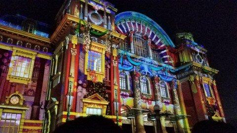 大阪市中央公会堂の紅葉写真