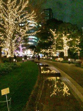 東京ミッドタウンのイルミネーション写真