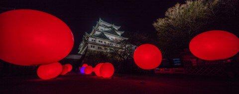 名古屋城の紅葉写真
