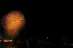 山猿さん投稿の第52回錦川水の祭典花火大会