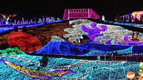 伊豆ぐらんぱる公園のイルミネーション写真