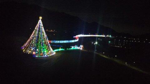 宮ケ瀬クリスマスみんなのつどいのイルミネーション写真