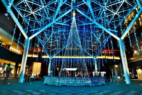太田川駅のイルミネーション写真