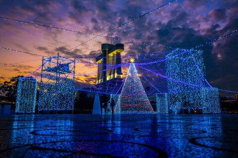 名古屋港シートレインランドのイルミネーション写真