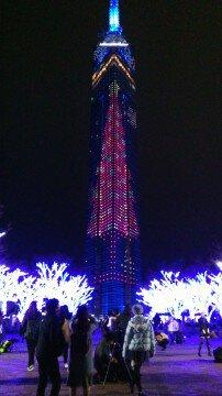 福岡タワーのイルミネーション写真