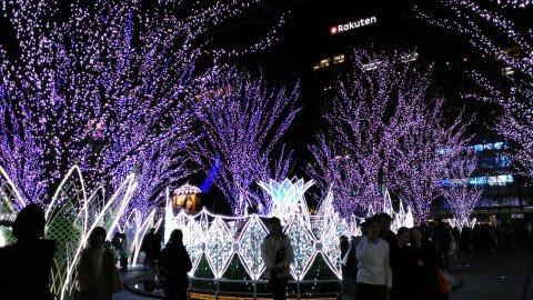 JR博多シティのイルミネーション写真