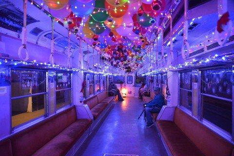 小湊鐵道イルミネーション列車のイルミネーション写真