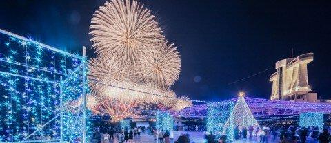 名古屋港ガーデンふ頭臨港緑園のイルミネーション写真