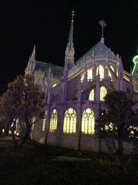 東武ワールドスクウェアのイルミネーション写真
