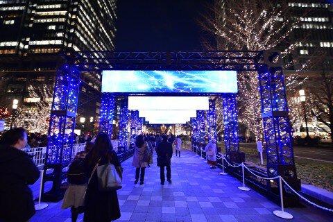 丸の内仲通り、東京駅周辺、大手町仲通りのイルミネーション写真
