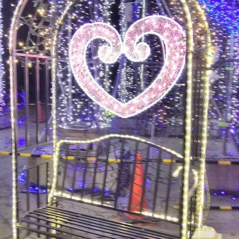 亀山公園ふれあい広場(一の坂交通交流広場)のイルミネーション写真