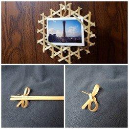 夏休みものづくり講座 竹のフォトフレーム、箸、箸置きづくりり体験