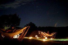 高原のハンモックでゆったり星空観賞