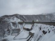 湯田ダム冬の風物詩。風の通り道「大荒沢」地峡風体験