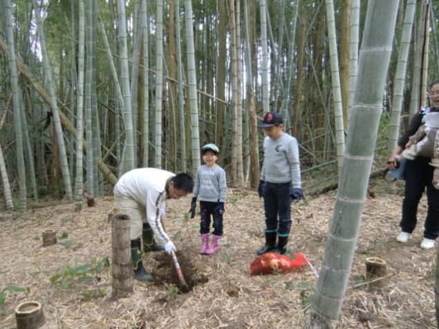 平成最後の春一番!竹の子掘り体験!