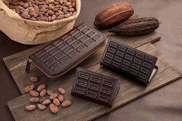 ChocolaTan(神戸市)が手がける、板チョコをモチーフにした革雑貨「CHOCOLATAN」