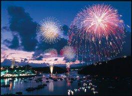 【2020年開催なし】浜名湖かんざんじ温泉灯篭流し花火大会