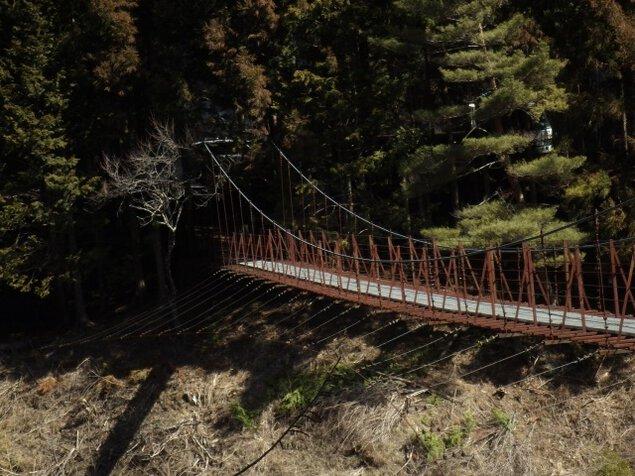 新緑のつり橋めぐり