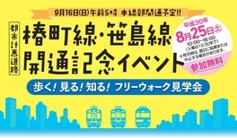 椿町線・笹島線 開通記念イベント「歩く!見る!知る!フリーウォーク見学会」