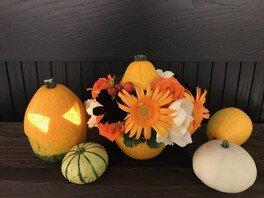 ハロウィンを楽しむ!かぼちゃでフラワーアレンジメントを作ろう!