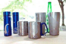 夏限定 サンドブラスト限定メニュー「ステンレスブルーボトル/ビアタンブラー/マグカップ」作り