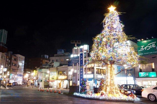 西船橋商店会 クリスマス ガーデンイルミネーション2019