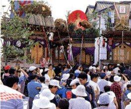 浅小井町周辺(曳山とイグサの館周辺)