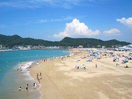 【海水浴】片男波海水浴場