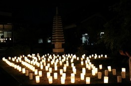 能登川大徳寺の地蔵盆万灯会