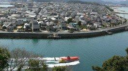 青海島南海岸クルーズと仙崎イカ漬け膳