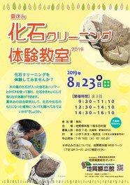 地質標本館 夏休み化石クリーニング体験教室2019