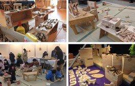 遊べる無垢の木のおもちゃ展と木工体験