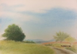 風景画家Itaru先生のパステル画体験教室(8月)